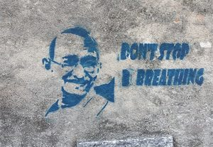 Don't stop breathing graffiti